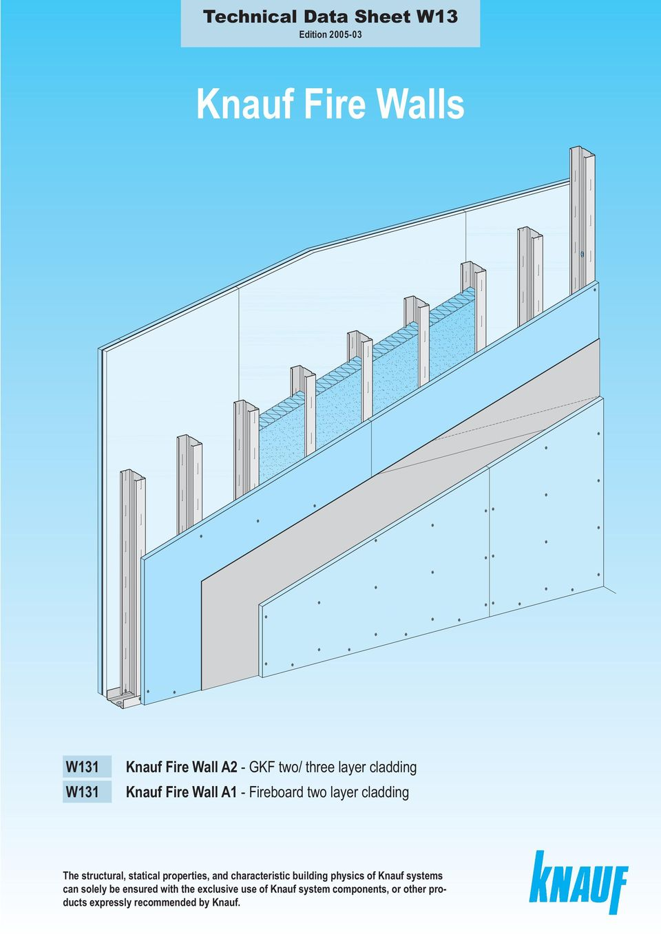 statical properties, and characteristic building physics of Knauf systems can solely be