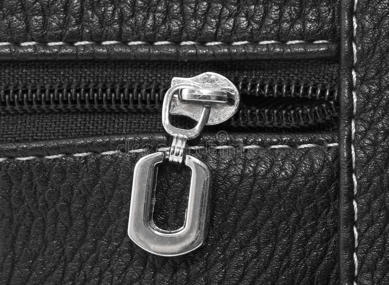 The lock on the zipper. macro stock photography