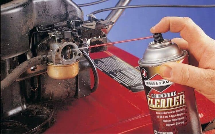 Spray The Insides With An Aerosol Cleaner