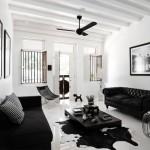 Черный диван в интерьере: строгость и минимализм