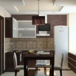Коричневый цвет в дизайне интерьера кухни