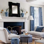 Сине-белый интерьер – изысканность и роскошь