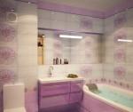 Сиреневая ванная комната фото 13.