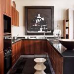 Кофейно-шоколадный цвет кухни