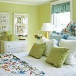 Летний стиль интерьера спальни