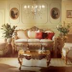 Стиль барокко в гостиной