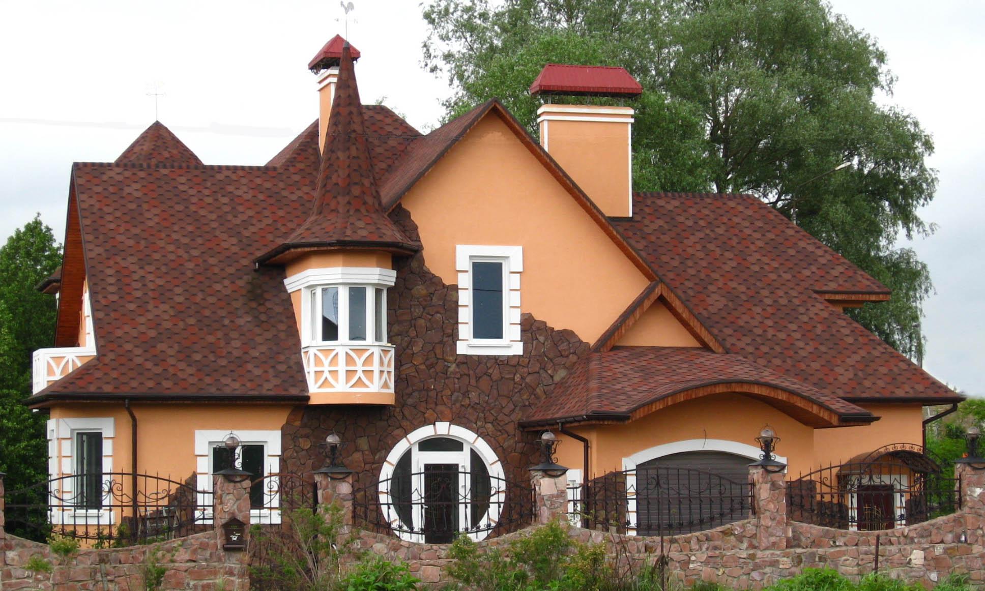 Дизайн кровли дома