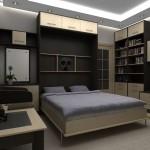 Складывающаяся кровать в интерьере квартиры
