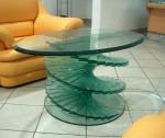 Из стекла мебель